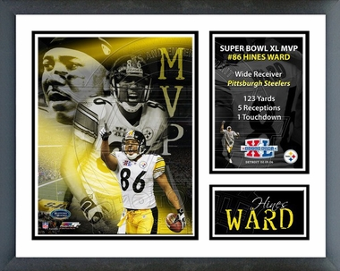 Hines Ward - Super Bowl XL MVP /  Framed Milestones & Memories