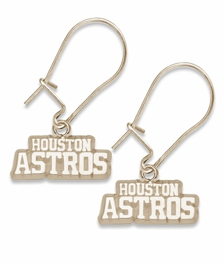 Houston Astros 10K Gold Post or Dangle Earrings