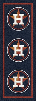 "Houston Astros 2'1"" x 7'8"" Premium Runner Rug"