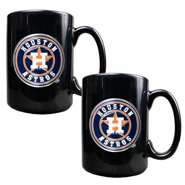 Houston Astros 2 Piece Coffee Mug Set