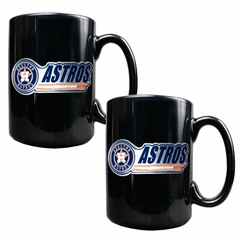 Houston Astros 2 Piece Coffee Mug Set (Wordmark)