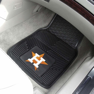 Houston Astros 2 Piece Heavy Duty Vinyl Car Mats