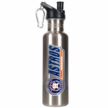 Houston Astros 26oz Stainless Steel Water Bottle (Silver)