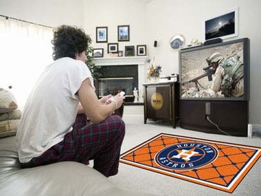 Houston Astros 4 Foot x 6 Foot Rug