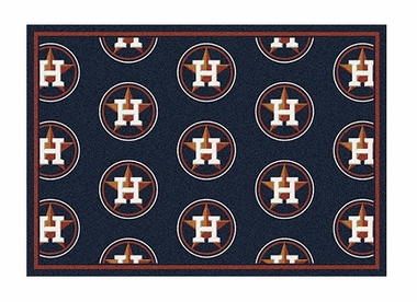 "Houston Astros 5'4"" x 7'8"" Premium Pattern Rug"