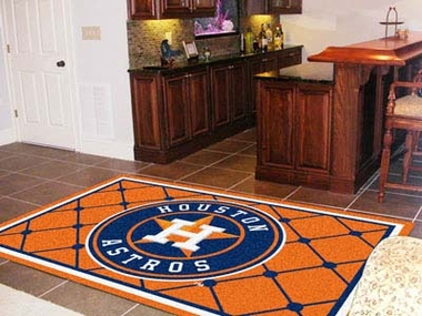 Houston Astros 5 Foot x 8 Foot Rug