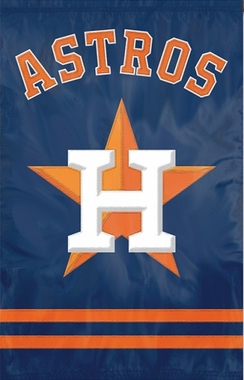Houston Astros Applique Banner Flag