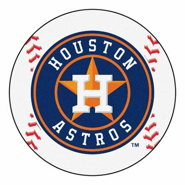 Houston Astros Baseball Shaped Rug