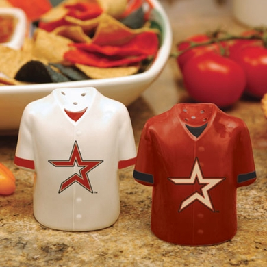 Houston Astros Ceramic Jersey Salt and Pepper Shakers