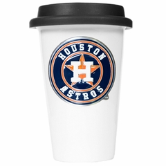 Houston Astros Ceramic Travel Cup (Black Lid)