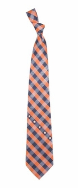 Houston Astros Check Poly Necktie
