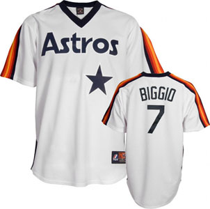 Houston Astros Craig Biggio Replica Throwback Jersey - Large