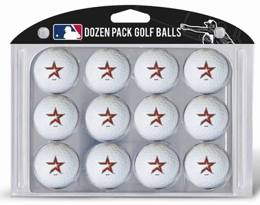 Houston Astros Dozen Golf Balls