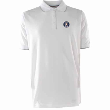 Houston Astros Mens Elite Polo Shirt (Color: White)