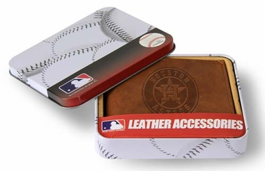 Houston Astros Embossed Leather Bifold Wallet