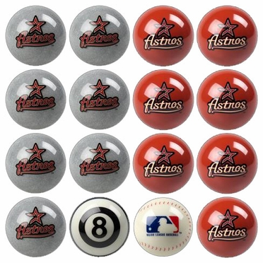 Houston Astros Home and Away Complete Billiard Ball Set
