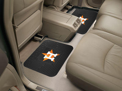 Houston Astros SET OF 2 Heavy Duty Vinyl Rear Car Mats