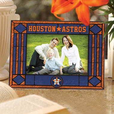 Houston Astros Landscape Art Glass Picture Frame