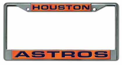Houston Astros Laser Etched Chrome License Plate Frame