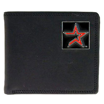 Houston Astros Leather Bifold Wallet (F)