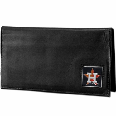 Houston Astros Leather Checkbook Cover (F)