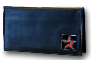 Houston Astros Leather Checkbook Cover