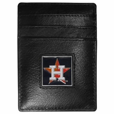 Houston Astros Leather Money Clip (F)