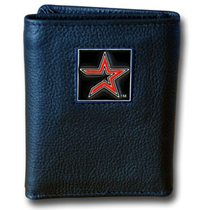 Houston Astros Leather Trifold Wallet (F)