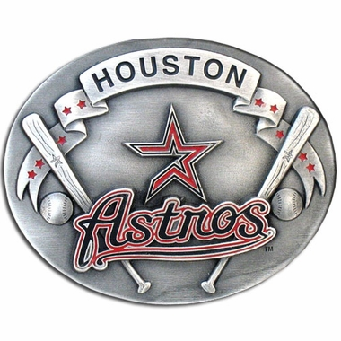 Houston Astros Enameled Belt Buckle