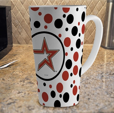 Houston Astros Polkadot 16 oz. Ceramic Latte Mug
