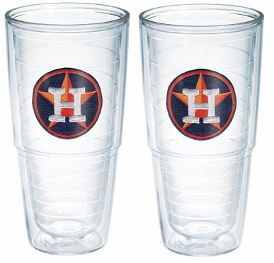 "Houston Astros Set of TWO 24 oz. ""Big T"" Tervis Tumblers"