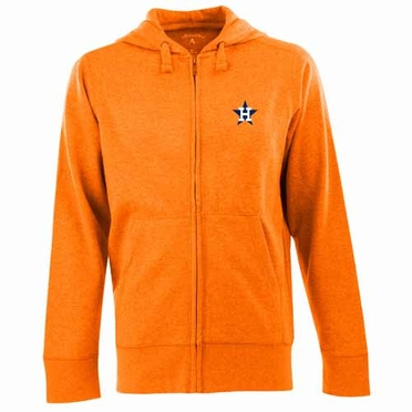 Houston Astros Mens Signature Full Zip Hooded Sweatshirt (Cooperstown) (Team Color: Orange)