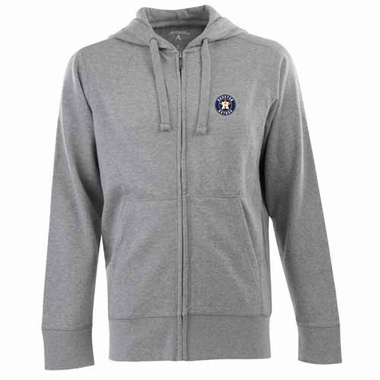 Houston Astros Mens Signature Full Zip Hooded Sweatshirt (Color: Gray)