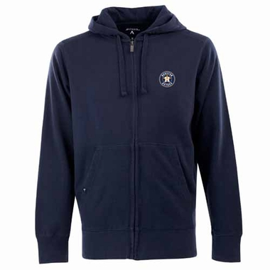 Houston Astros Mens Signature Full Zip Hooded Sweatshirt (Team Color: Navy)