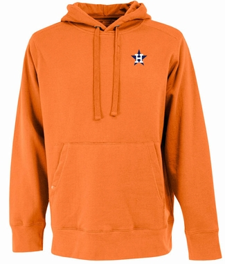 Houston Astros Mens Signature Hooded Sweatshirt (Cooperstown) (Color: Orange)