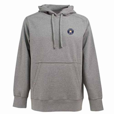 Houston Astros Mens Signature Hooded Sweatshirt (Color: Gray)