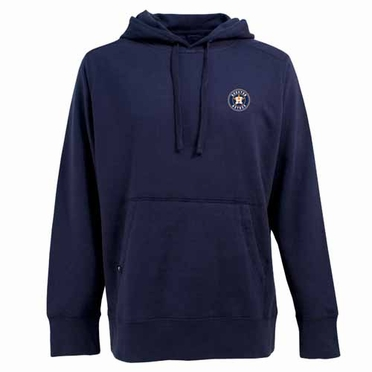 Houston Astros Mens Signature Hooded Sweatshirt (Team Color: Navy)