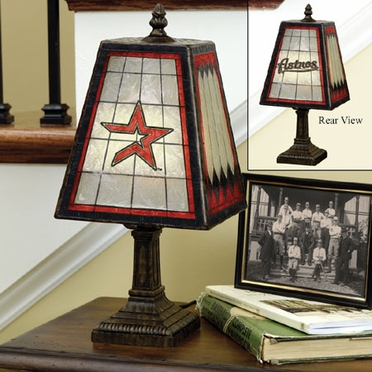 Houston Astros Small Art Glass Lamp