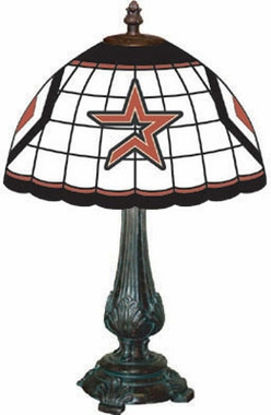 Houston Astros Stained Glass Table Lamp