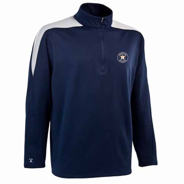 Houston Astros Mens Succeed 1/4 Zip Performance Pullover (Team Color: Navy)