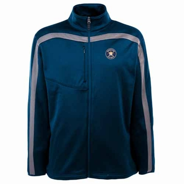 Houston Astros Mens Viper Full Zip Performance Jacket (Team Color: Navy)