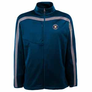 Houston Astros Mens Viper Full Zip Performance Jacket (Team Color: Navy) - Small