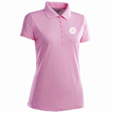 Houston Astros Womens Pique Xtra Lite Polo Shirt (Color: Pink)
