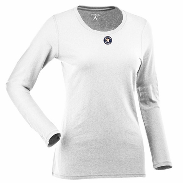 Houston Astros Womens Relax Long Sleeve Tee (Color: White)