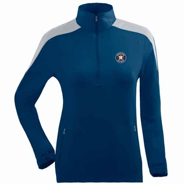 Houston Astros Womens Succeed 1/4 Zip Performance Pullover (Team Color: Navy)