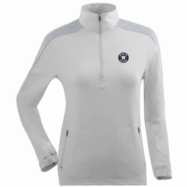 Houston Astros Womens Succeed 1/4 Zip Performance Pullover (Color: White)