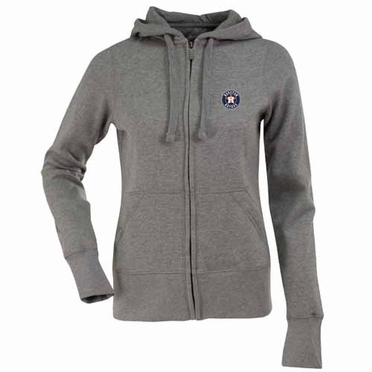 Houston Astros Womens Zip Front Hoody Sweatshirt (Color: Gray)