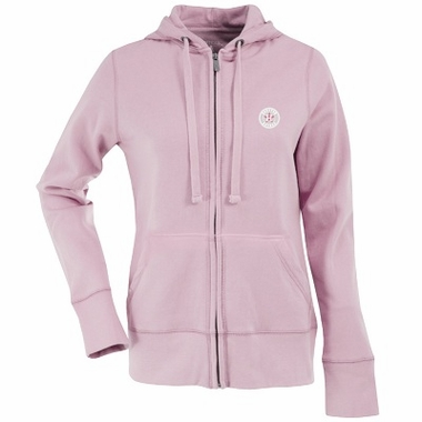 Houston Astros Womens Zip Front Hoody Sweatshirt (Color: Pink)