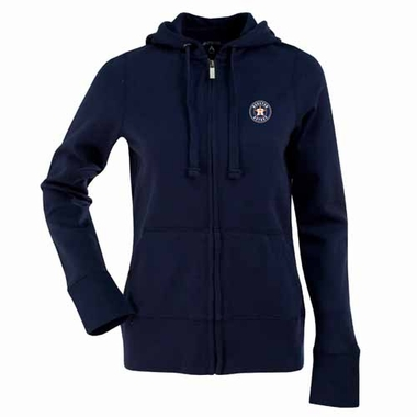 Houston Astros Womens Zip Front Hoody Sweatshirt (Team Color: Navy)