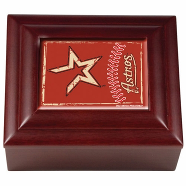 Houston Astros Wooden Keepsake Box